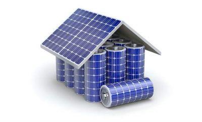 Bild pa batteri solpaneler