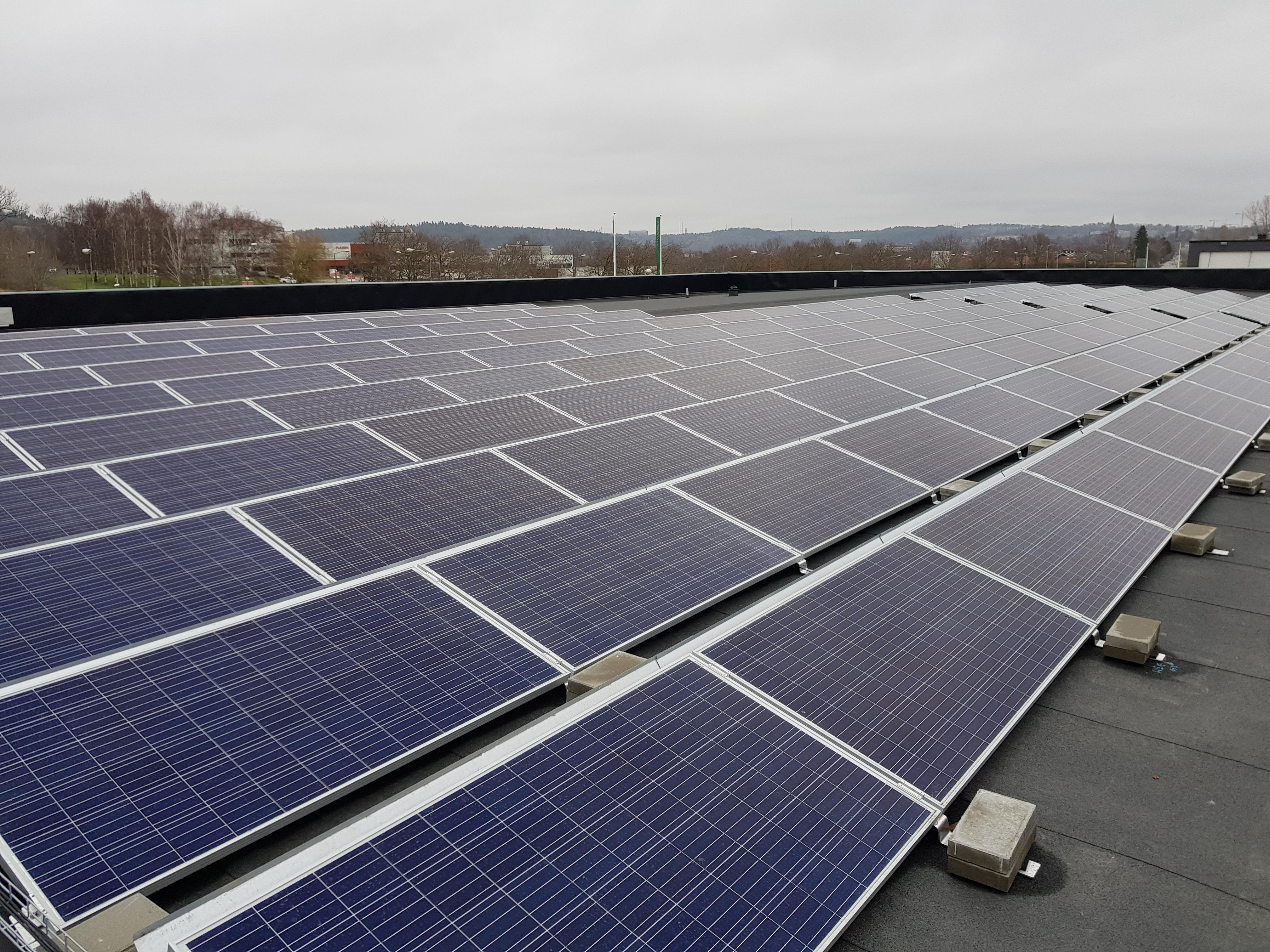 Bilden visar solpaneler referensobjekt