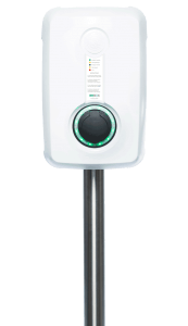 Bilden visar laddstolpe till bilbatteri - Evbox