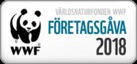 Bilden visar en symbol för företagsgåva till wwf 2018